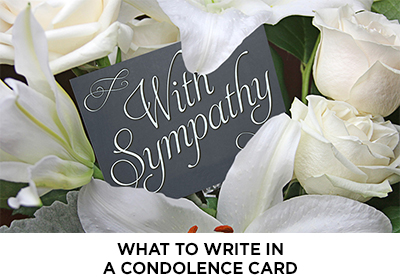 Article: What to Write in a Condolence Note