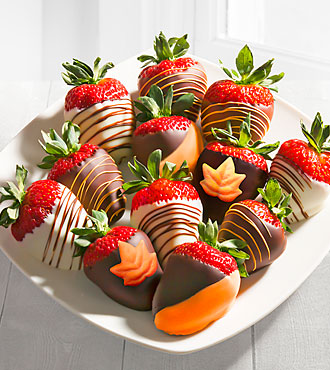 Fall Chocolate Covered Strawberrie