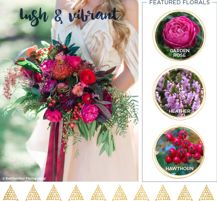 lush and vibrant wedding bouquet