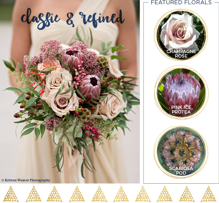 classic and refined wedding bouquet