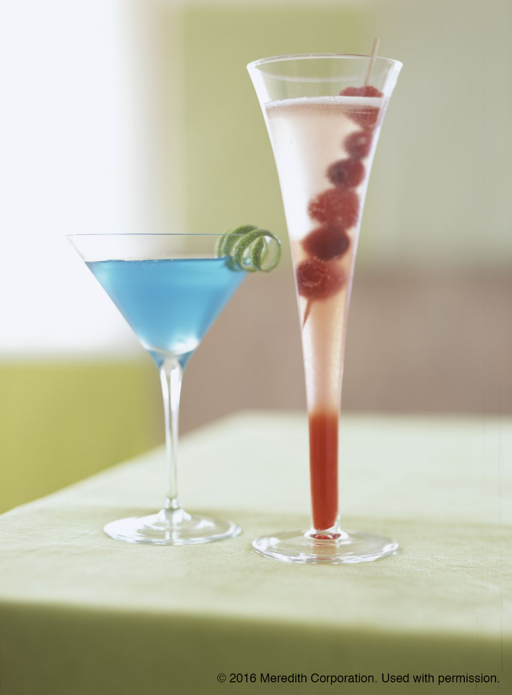 Blue Christmas Holiday Cocktail