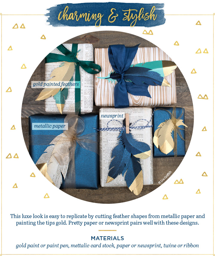 charming stylish gift wrapping