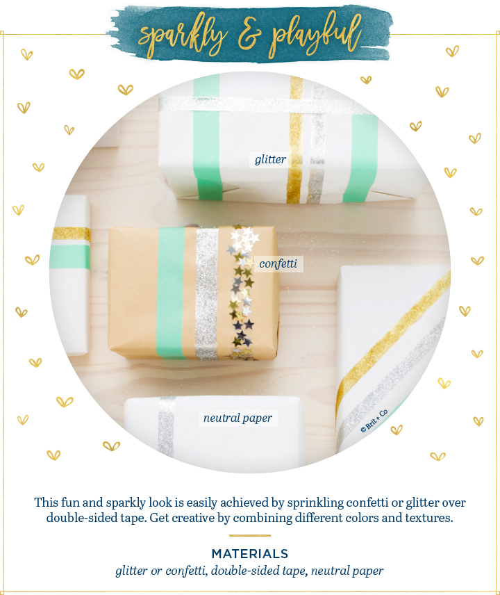 sparkly playful gift wrapping