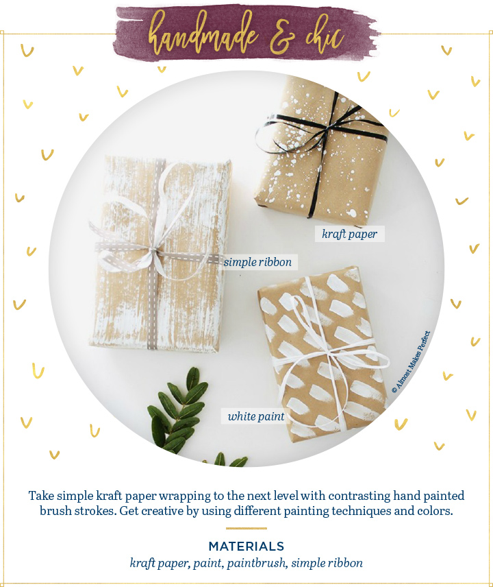 handmade chic gift wrapping