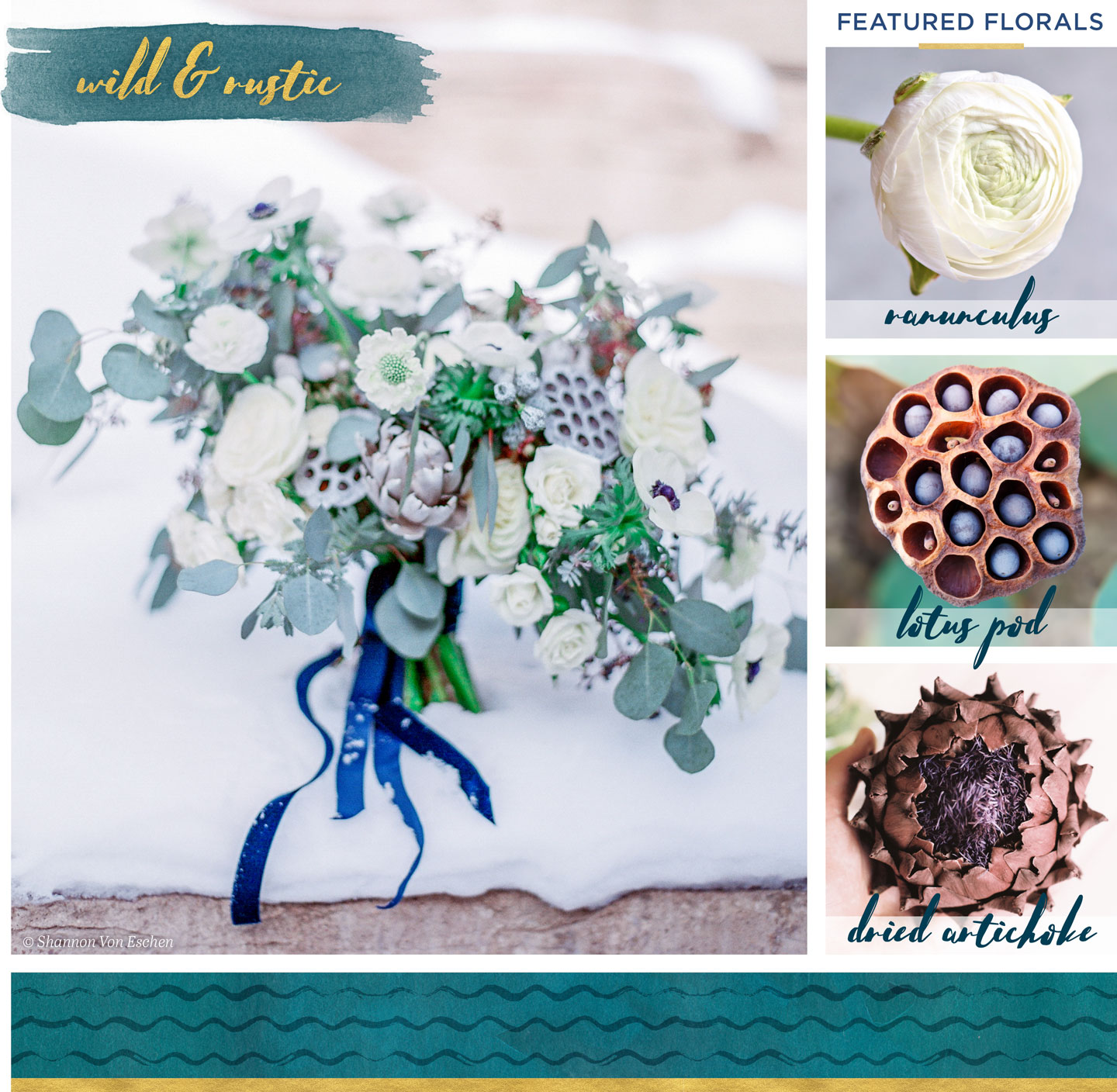 winter wedding flowers inspiration wild and rustic