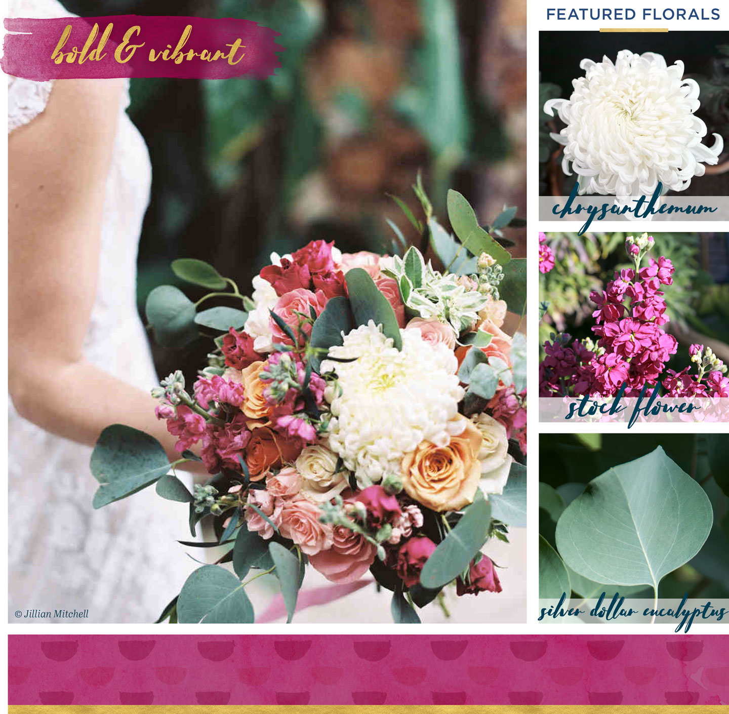 winter wedding flowers inspiration bold and vibrant