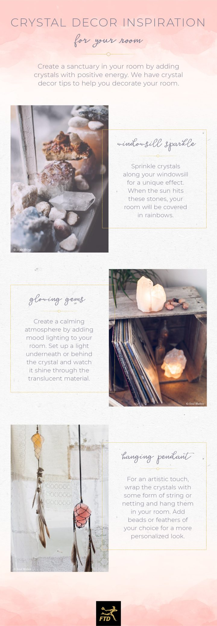 Crystals In Your Home - Room Infographic
