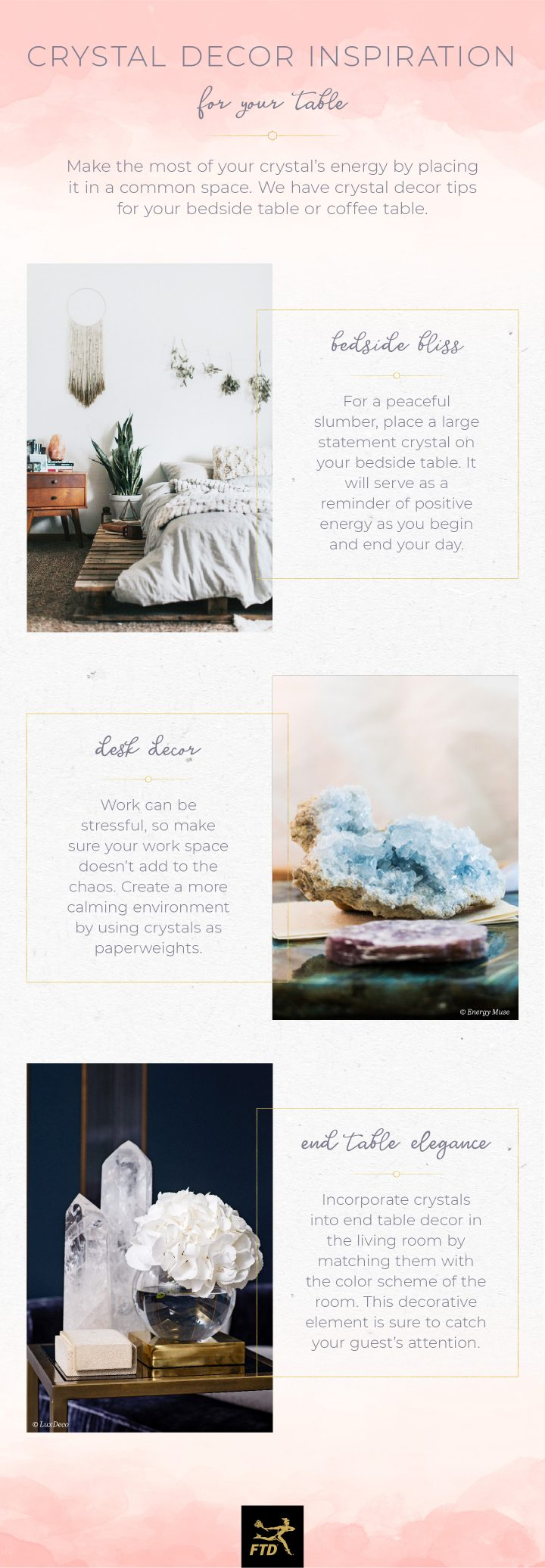 Crystals In Your Home - Table Infographic