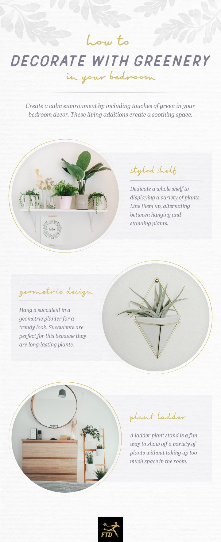 Decorate with Greenery - Your Bedroom