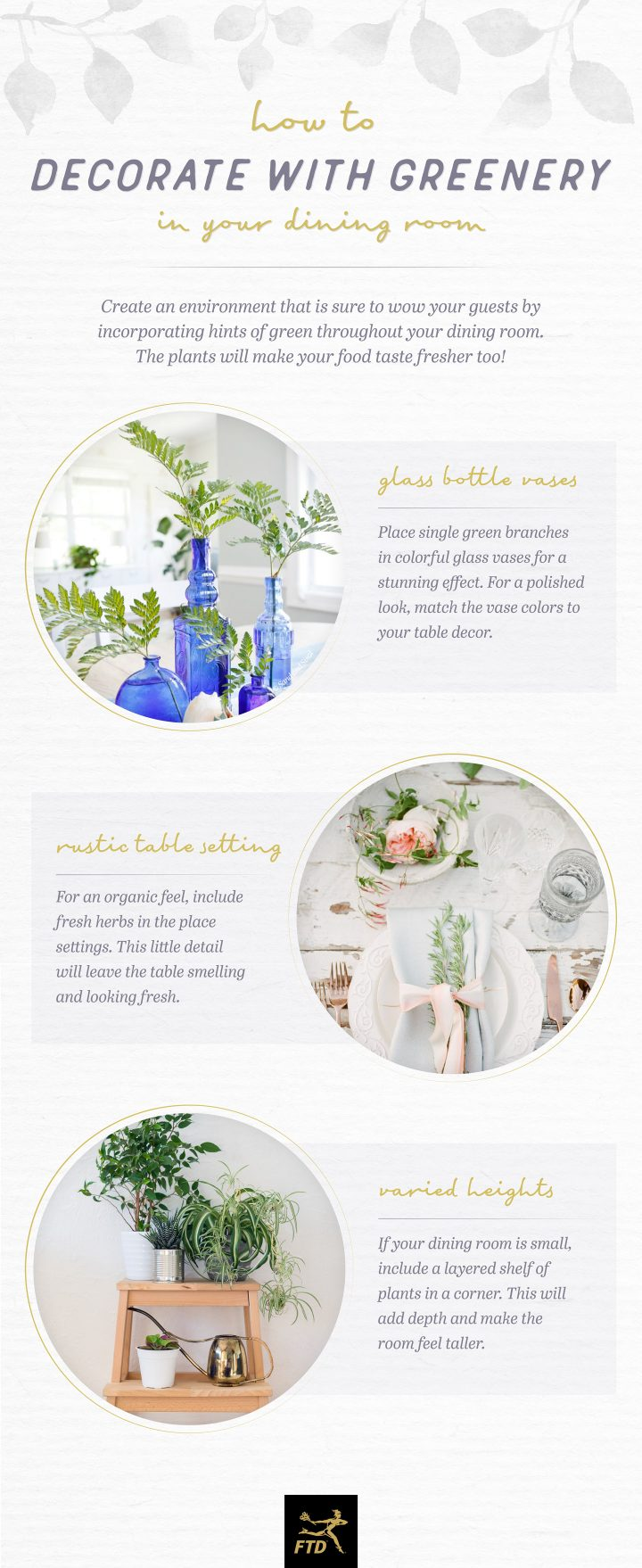 Decorate with Greenery - Your Dining Room