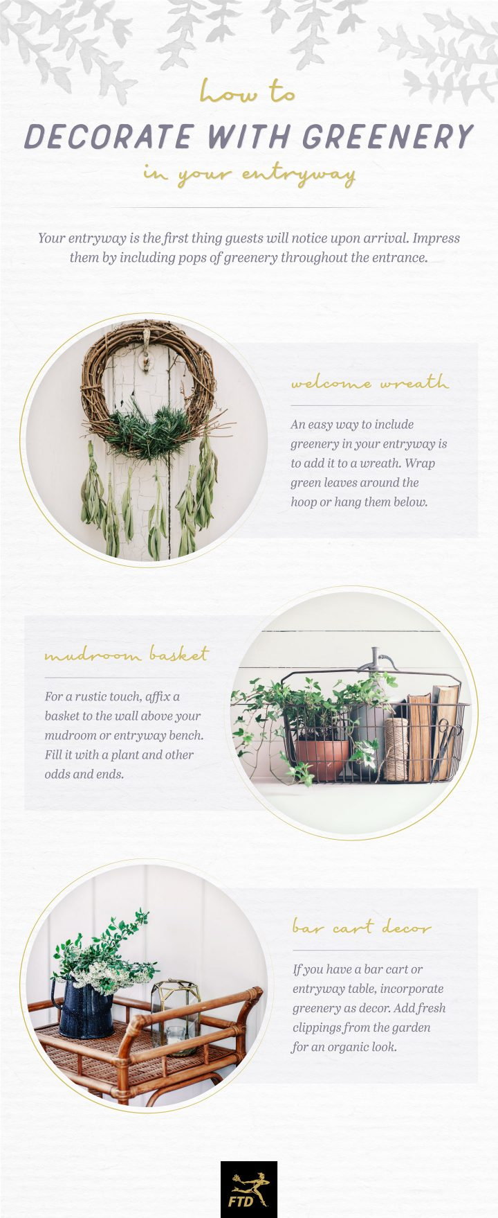 Decorate with Greenery - Your Entryway