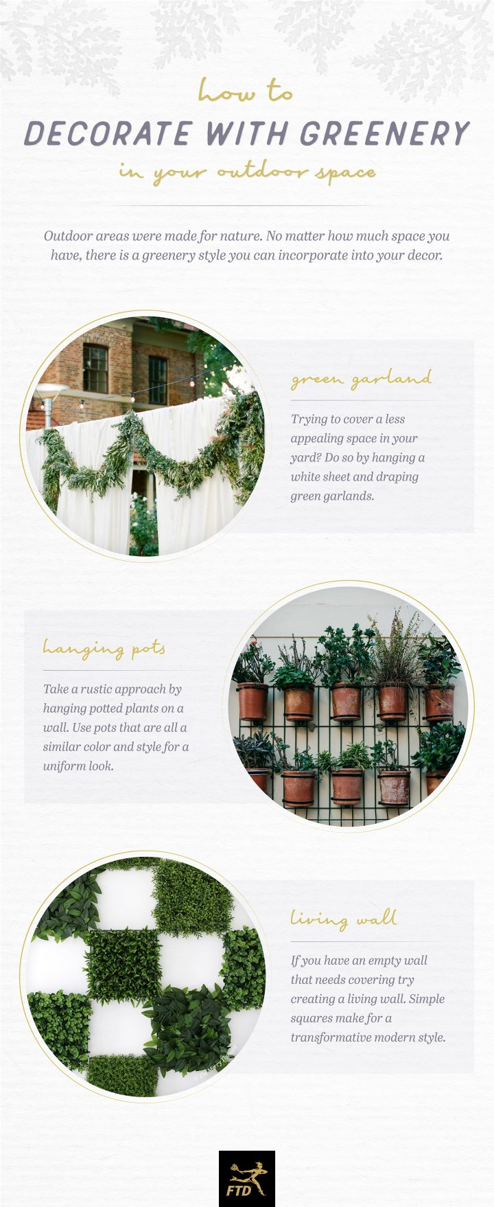 Decorate with Greenery - Your Outdoor Space