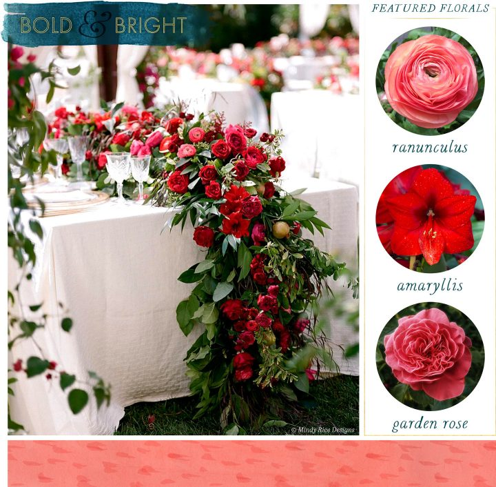 Floral Table Runners Bold and Bright