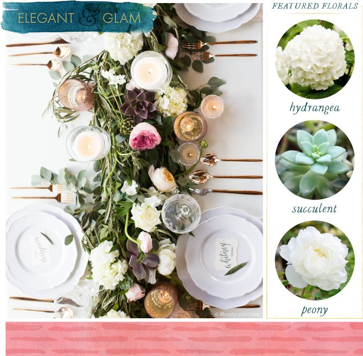 Floral Table Runners Elegant and Glam