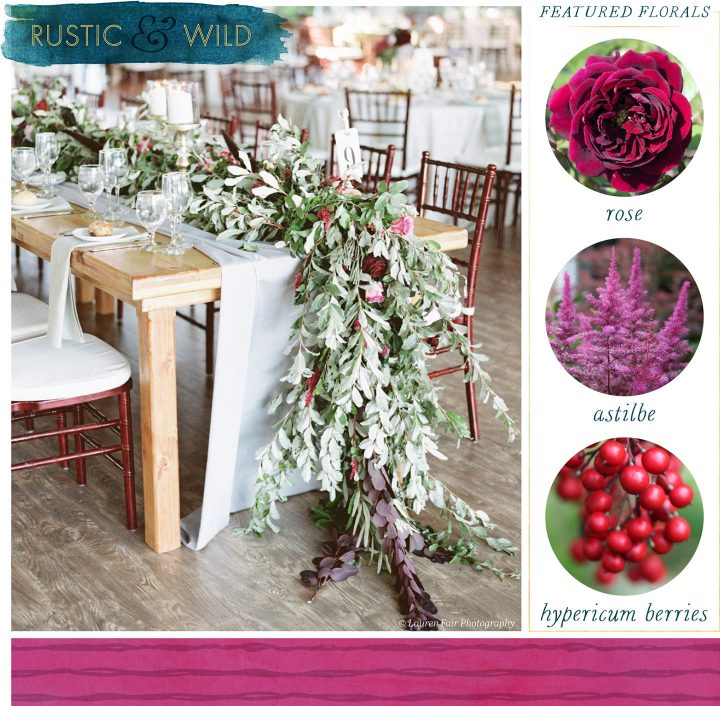 Floral Table Runners Rustic and Wild