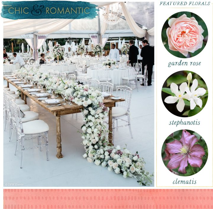 Floral Table Runners Chic and Romantic
