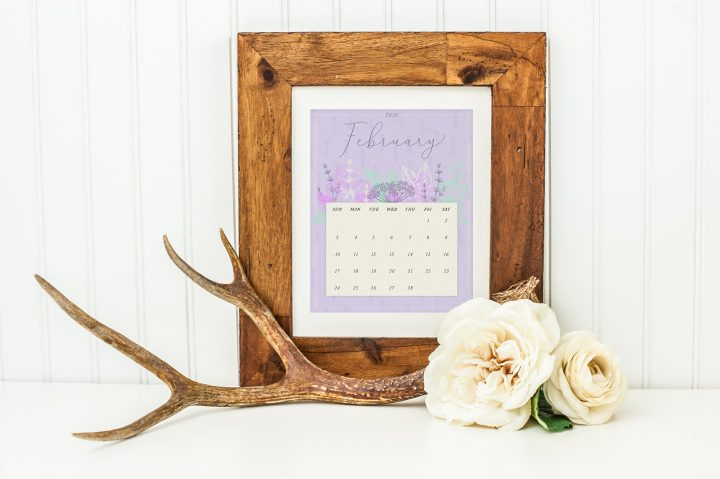 Printable Calendars for a Floral 2019