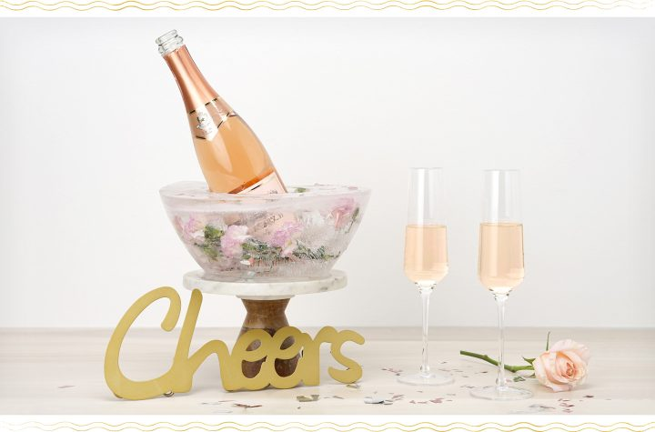 Floral Ice Bucket Cheers