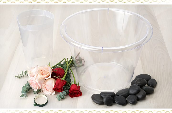 Floral Ice Bucket Materials