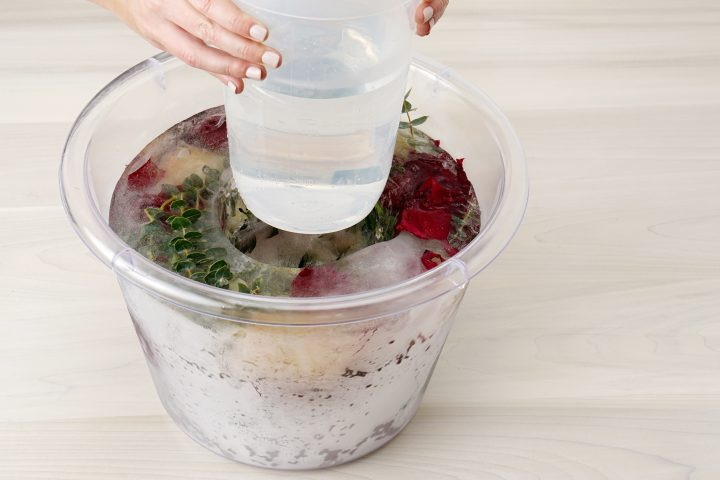 Floral Ice Bucket Step 7 Remove Container