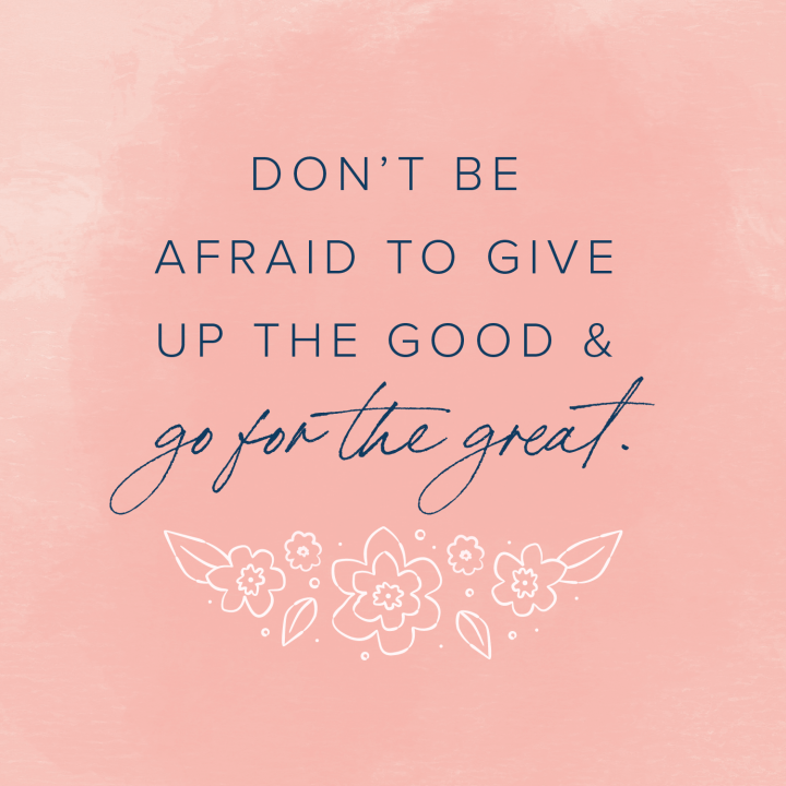 quote peach floral background