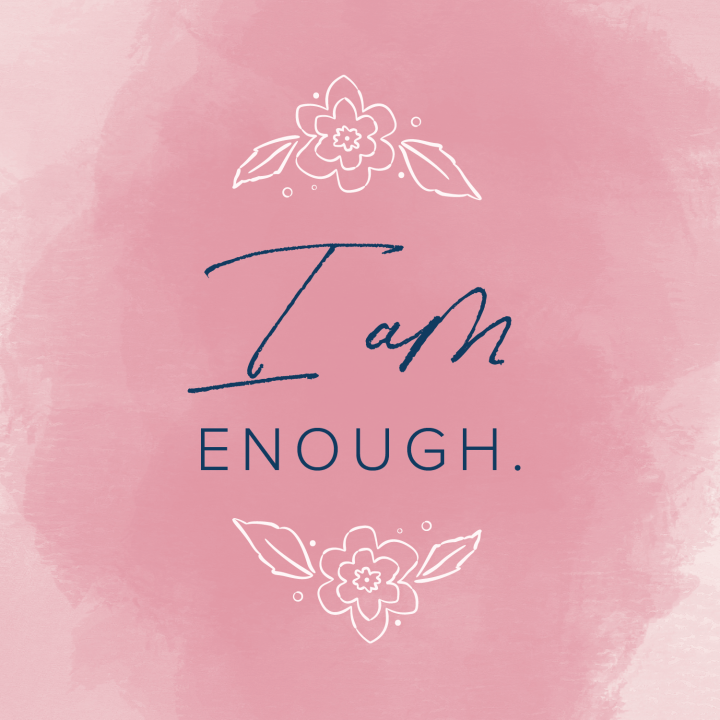 quote floral pink background