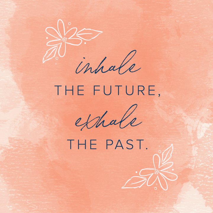 quote salmon floral background