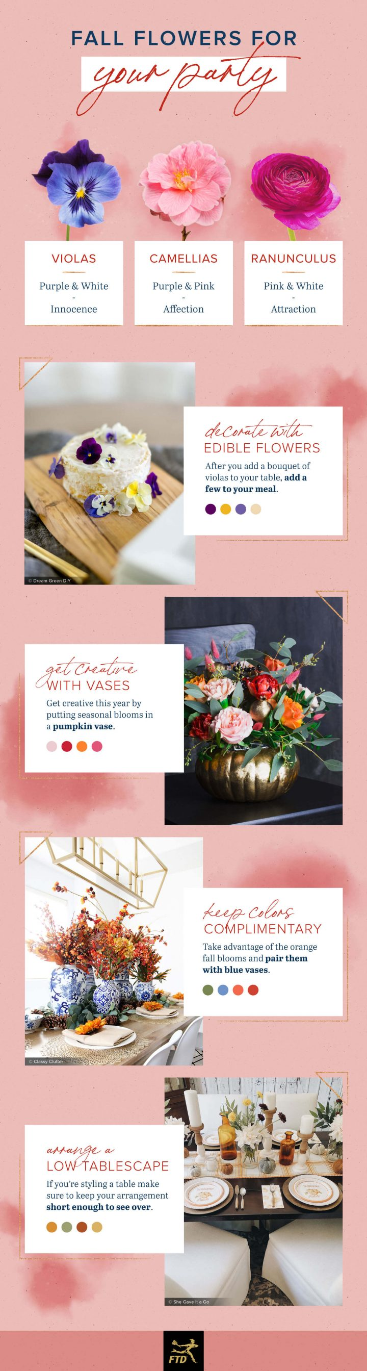 ideas for including fall flowers in your parties.