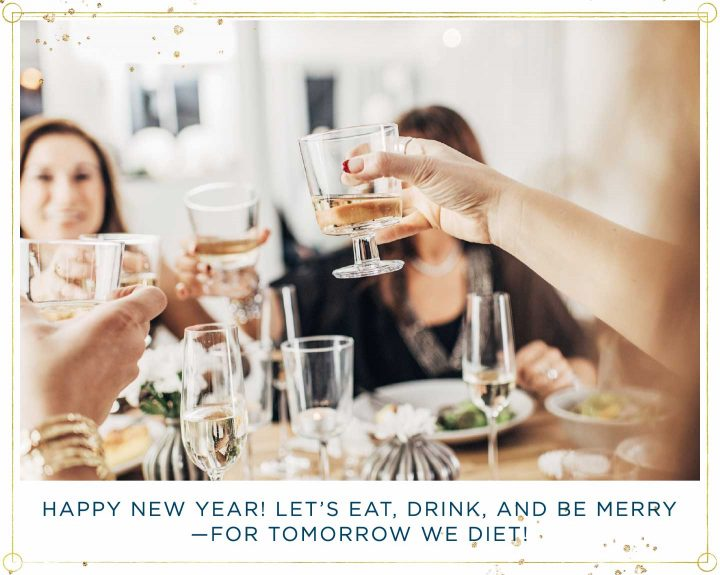 friends toasting to the new year