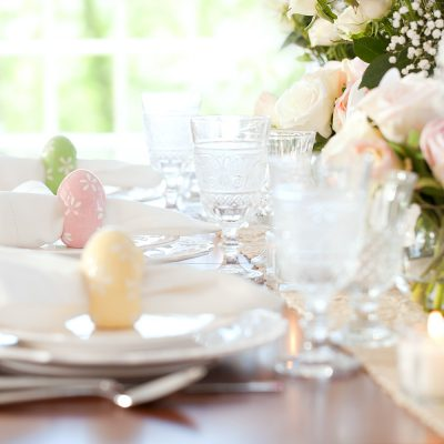 easter table setting decor