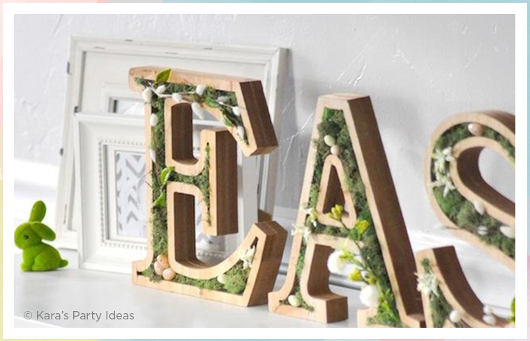easter moss letters