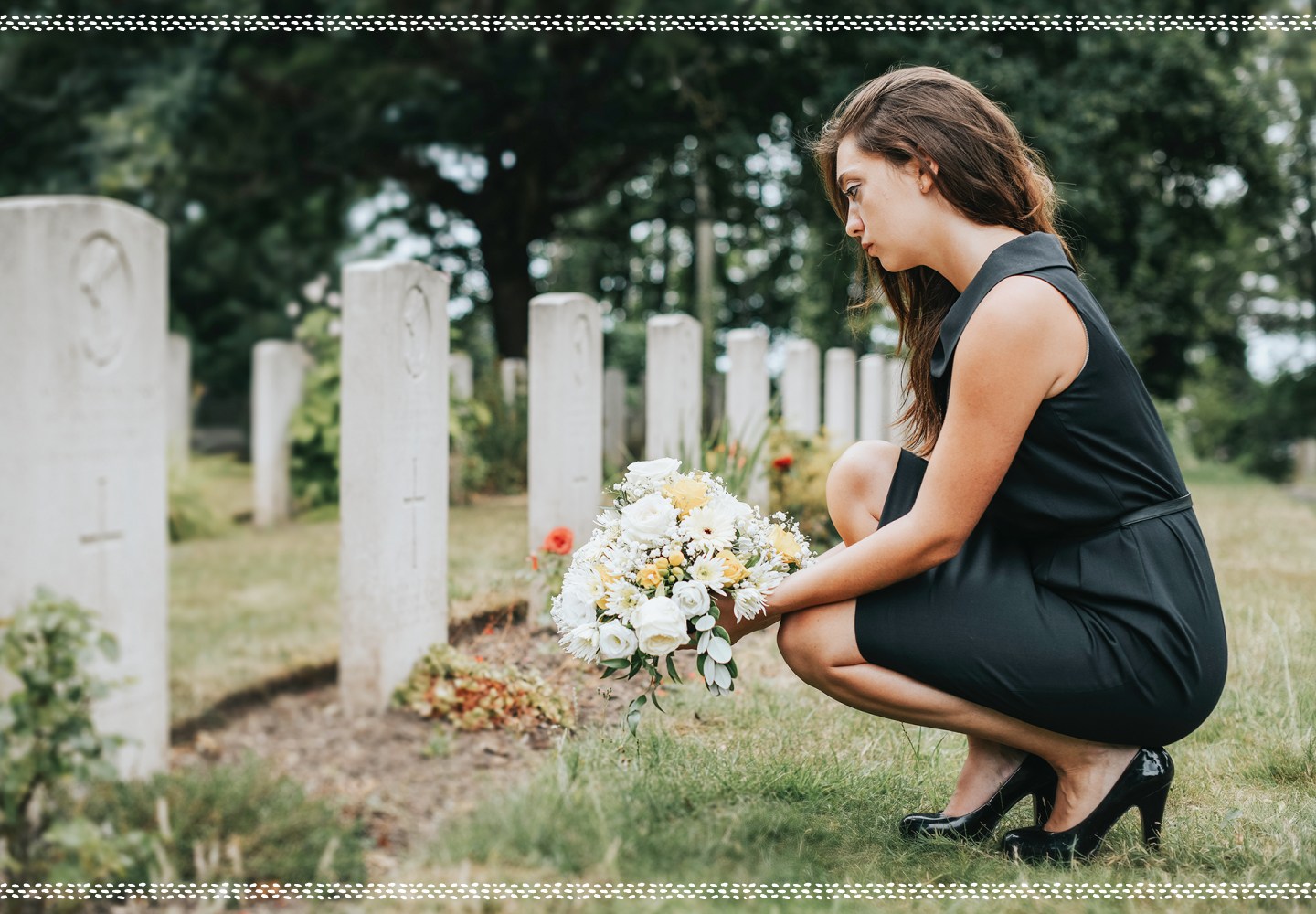 woman at funeral