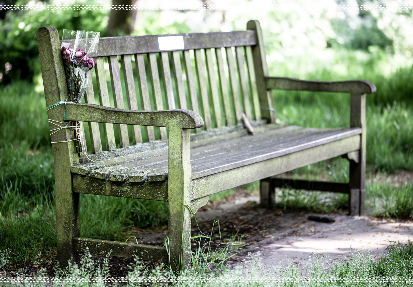 bench at a funeral