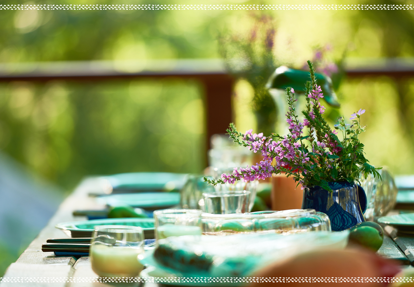 funeral reception table