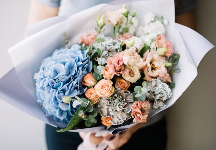 close up bouquet of flowers