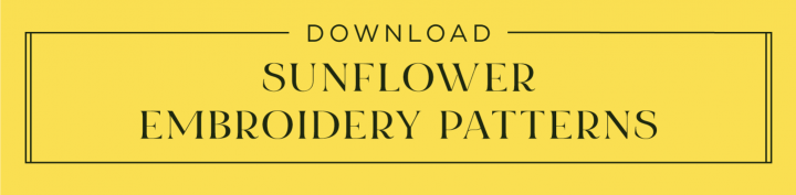Click this button to download 3 free sunflower embroidery patterns!