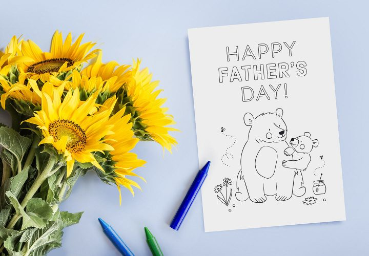 kids father's day card