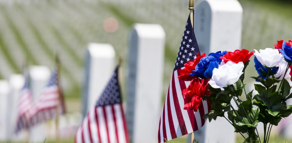 Memorial Day Cemetery Flags & Flowers