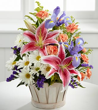 The FTD Wondrous Nature Flower Bouquet With Basket