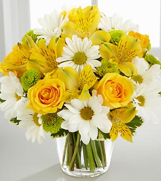 Mother's Day Flowers - The FTD® Sunny Sentiments™ Flower Bouquet - VASE INCLUDED