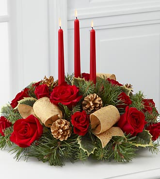 Christmas Flowers - The FTD Celebration Of The Season Centerpiece