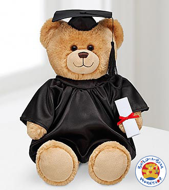 Build-A-Bear Workshop Con-Grad-Ulations Bear With Black Gown