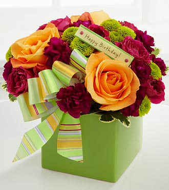 Birthday Flower Bouquet – Vase Included