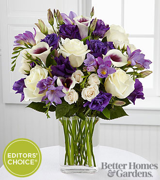 The FTD Moonlit Meadows Flower Bouquet By Better Homes And Gardens - 23 Stems - Vase Included