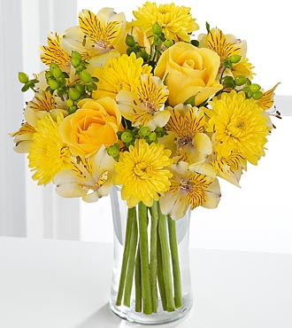 FTD Flowers - Sunny Day Flower Bouquet - Vase Included
