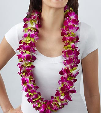 Graduation Flowers - Purple Paradise Orchid Lei