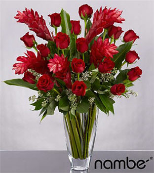 Reasons To Believe Flower Bouquet In Crystal NambÉ Vase - 23 Stems