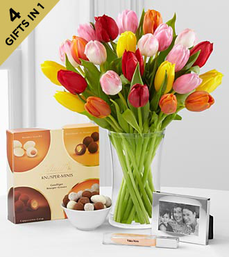 Mother's Day Flowers - Make A Memory Mother's Day Ultimate Gift - Vase Included