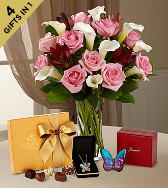 Mother's Day Flowers - Butterfly Beauty Mother's Day Ultimate Gift - Vase Included