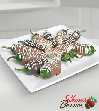Golden Edibles Belgian Chocolate Covered Jalapenos